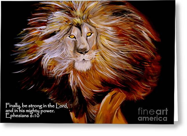 Lion Of Judah Strength Greeting Card
