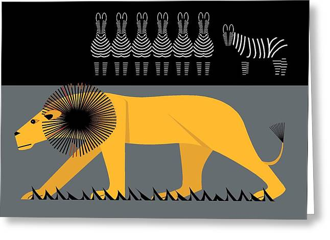 Lion On The Loose Greeting Card