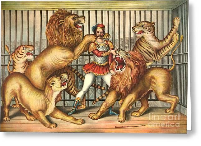 Lion Tamer 1873 Greeting Card
