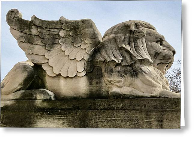 Lion With Wings Greeting Card by Patricia Januszkiewicz