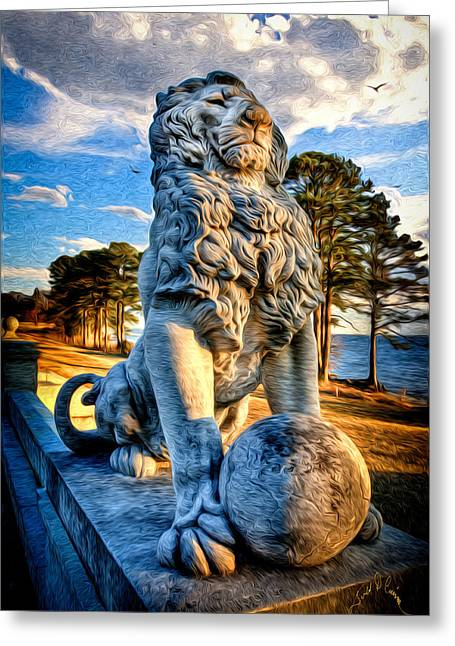 Lion's Bridge Greeting Card by Williams-Cairns Photography LLC