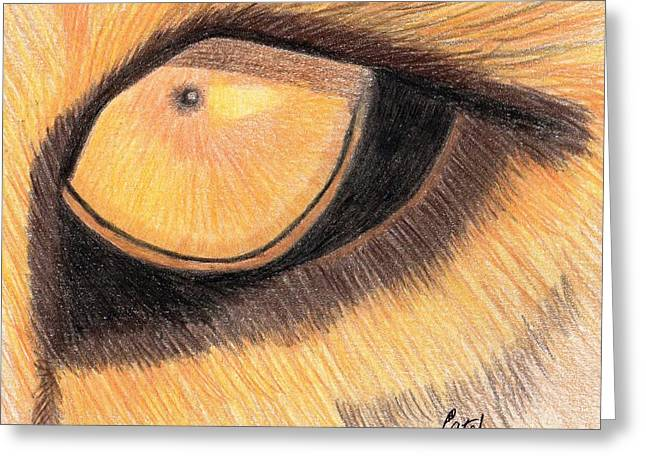 Lions Eye Greeting Card by Bav Patel