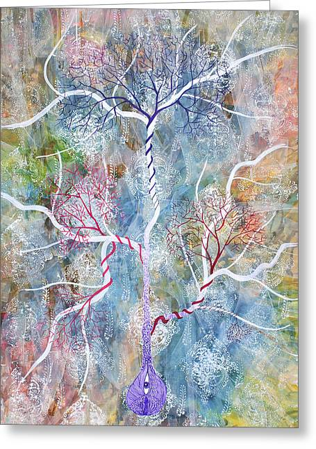 Lipid Branches Greeting Card by Sumit Mehndiratta