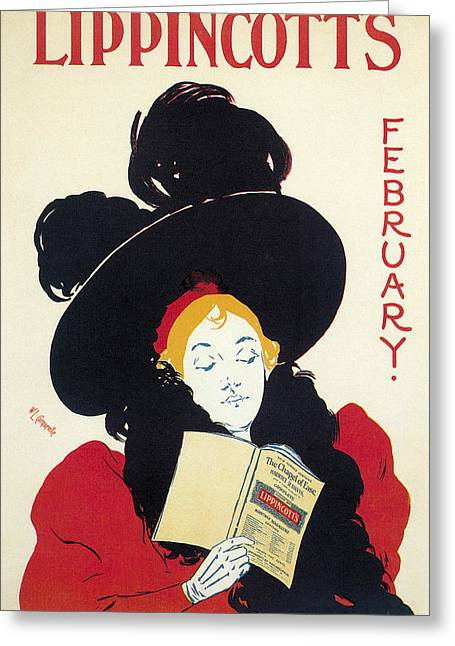 Lippincotts February 1895 Greeting Card by William L Carqueville