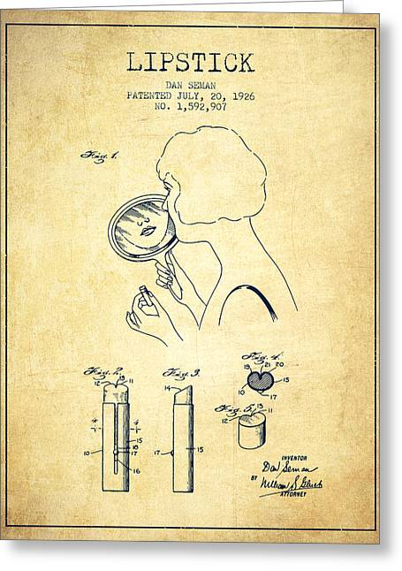 Lipstick Patent From 1926 - Vintage Greeting Card