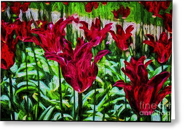 Lipstick Tulips Greeting Card