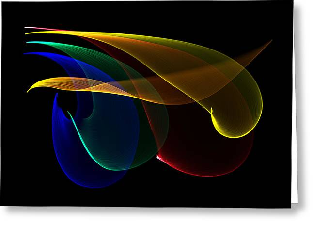 Liquid Colors Greeting Card by Pete Trenholm