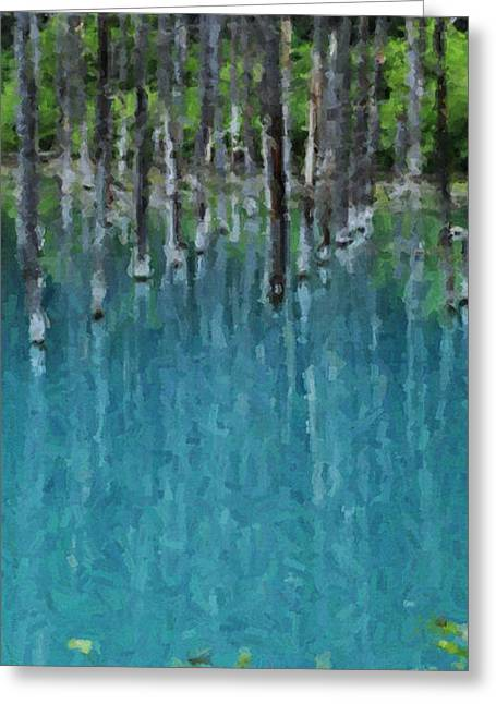 Liquid Forest Greeting Card