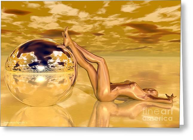 Liquid Gold Greeting Card by Sandra Bauser Digital Art