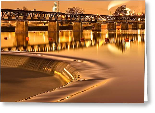 Liquid Gold - The 21st Street Bridge  Greeting Card