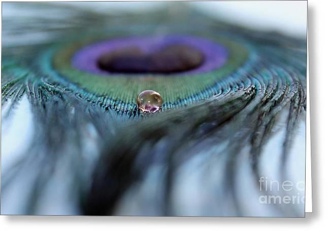 Liquid Jewel Greeting Card by Krissy Katsimbras