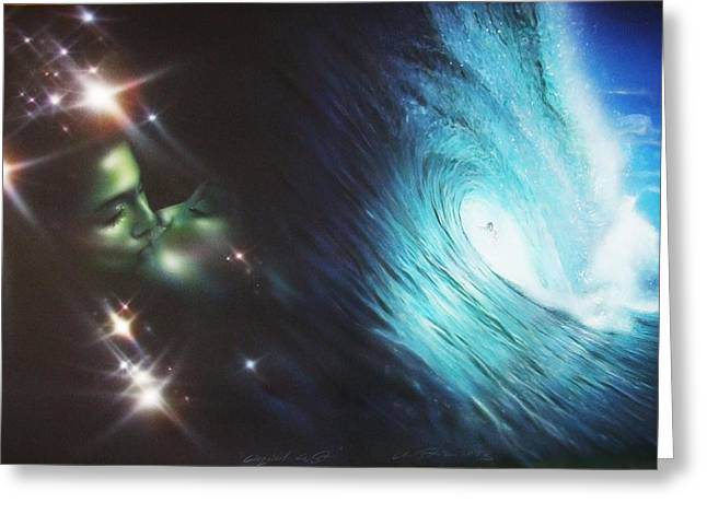 Ocean - ' Liquid Lust ' Greeting Card by Christian Chapman Art