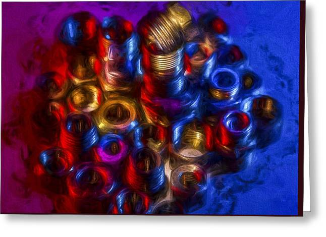 Liquid Nuts And Bolts Greeting Card by Vivian Frerichs