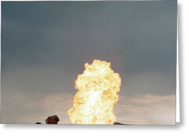 Liquid Petroleum Gas Tank Failure Testing Greeting Card by Crown Copyright/health & Safety Laboratory Science Photo Library