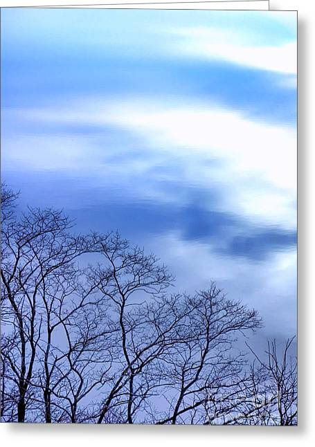 Liquid Sky Greeting Card by Olivier Le Queinec