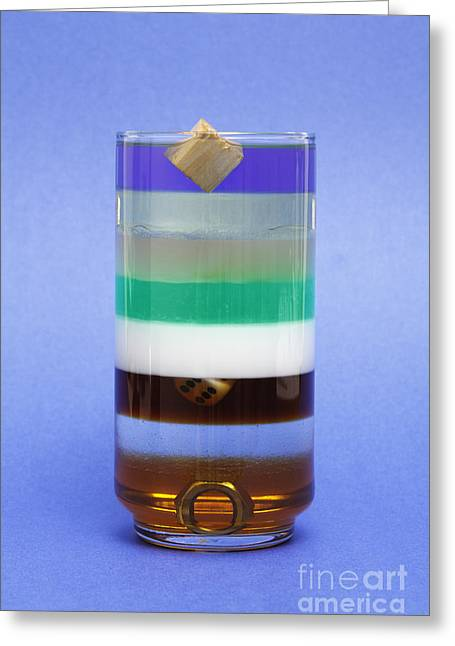 Liquids And Solids Of Different Density Greeting Card by GIPhotoStock