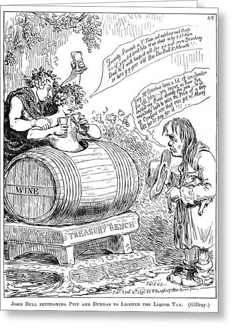 Liquor Tax Cartoon, 1796 Greeting Card by Granger