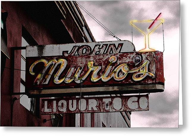 Liquor To Go Greeting Card by Larry Butterworth