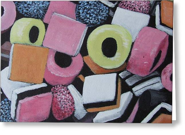 Liquorice Allsorts Greeting Card