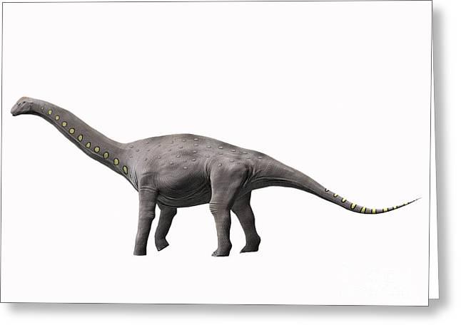 Lirainosaurus Astibae, Late Cretaceous Greeting Card by Nobumichi Tamura