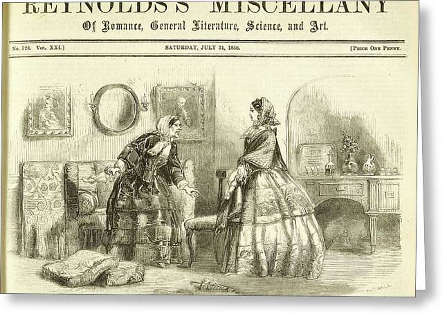 Lisa Visits The Countess Of Bedale Greeting Card by British Library