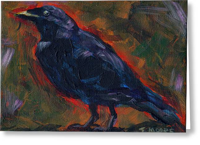 Lisa's Blackbird Greeting Card by Susan Moore