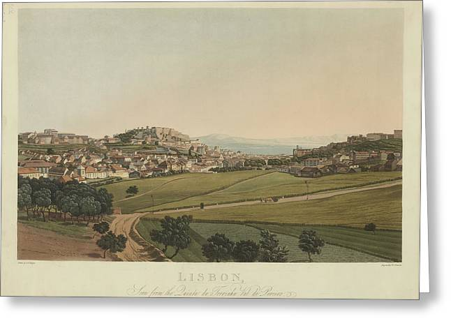 Lisbon Greeting Card by British Library