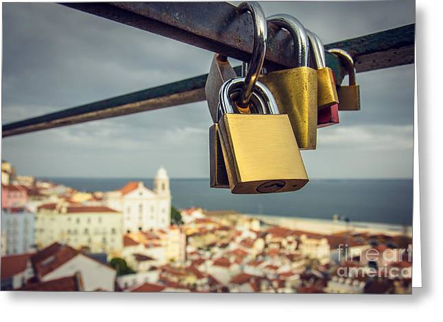 Lisbon Is For Lovers Greeting Card by Carlos Caetano
