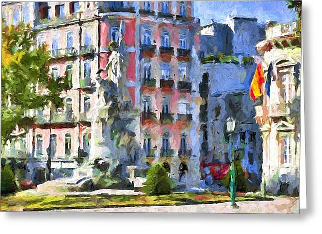 Lisbon Streets Greeting Card by Yury Malkov