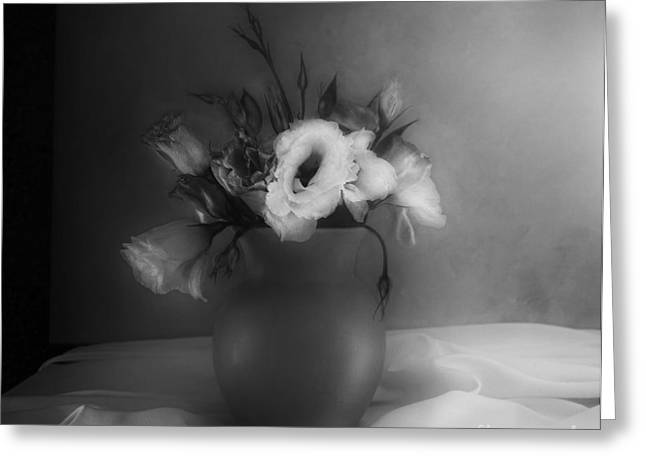 Lisianthus Bouquet Greeting Card by Theresa Tahara