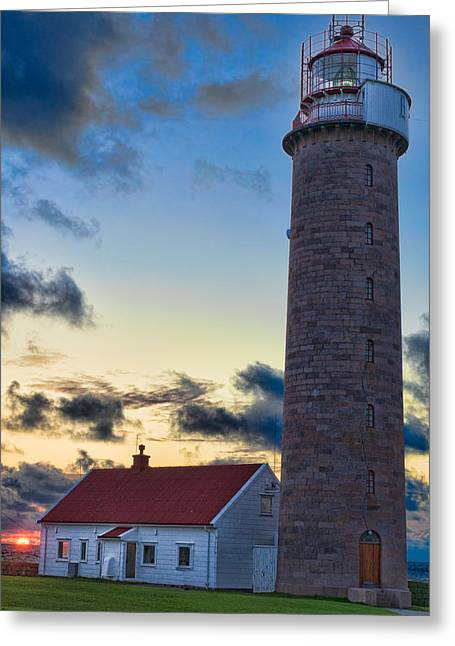 Lista Lighthouse Greeting Card by Kenneth Gjesdal