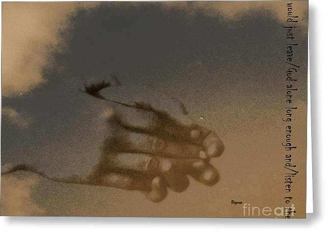 Listen To The Sky Greeting Card by Steven Digman