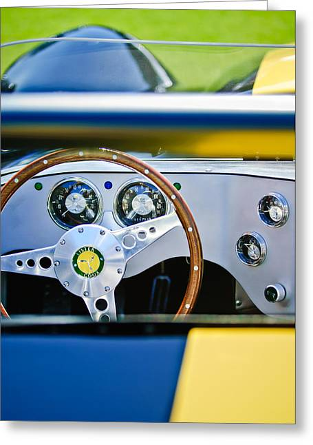 Lister Steering Wheel Greeting Card by Jill Reger