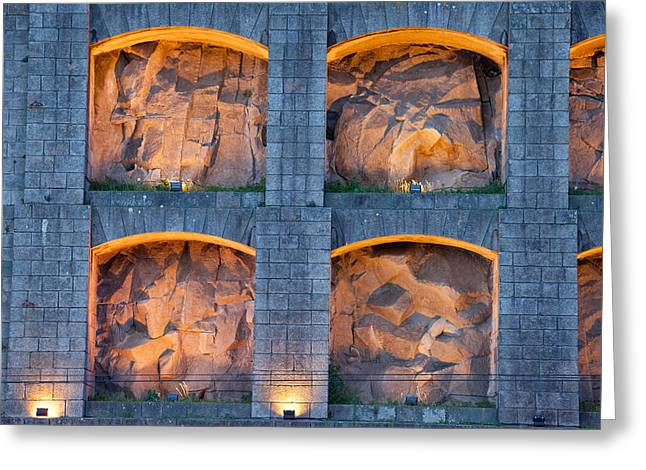 Lit Up Niches Of Serra Do Pilar Monastery In Portugal Greeting Card by Artur Bogacki