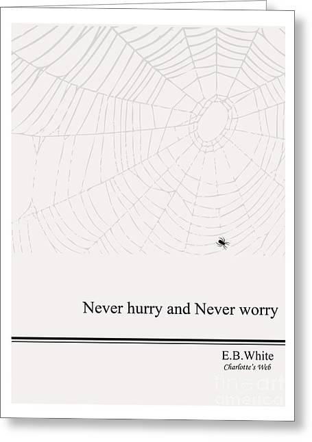 Literary Quote- E.b. White - Cw Greeting Card