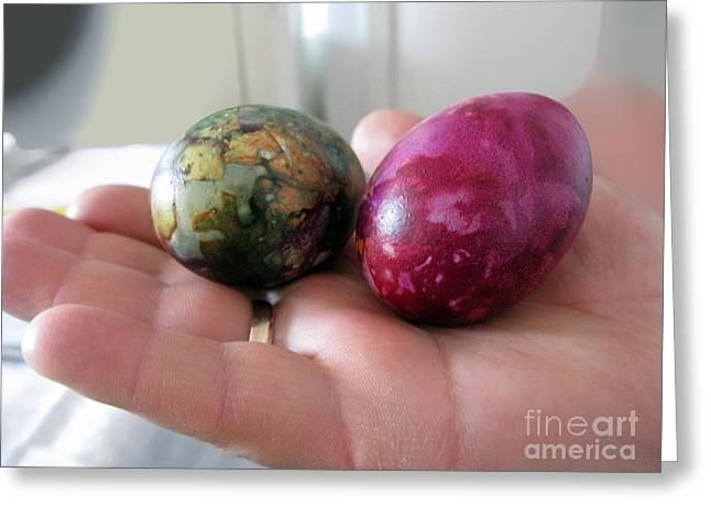 Lithuanian Easter Eggs Greeting Card by Ausra Huntington nee Paulauskaite