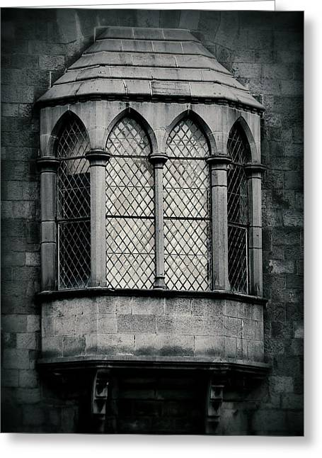 Lattice Castle Window Greeting Card by Nadalyn Larsen