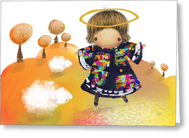 Little Angel Greeting Card by Karin Taylor