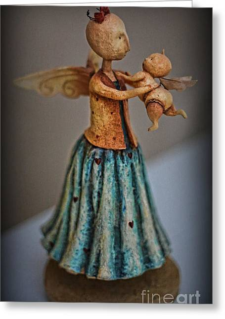 Little Angel  Greeting Card by Lee Dos Santos