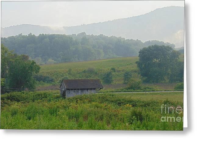 Little Barn Of North Garden Greeting Card