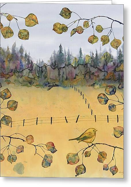Little Bird And Fence Greeting Card