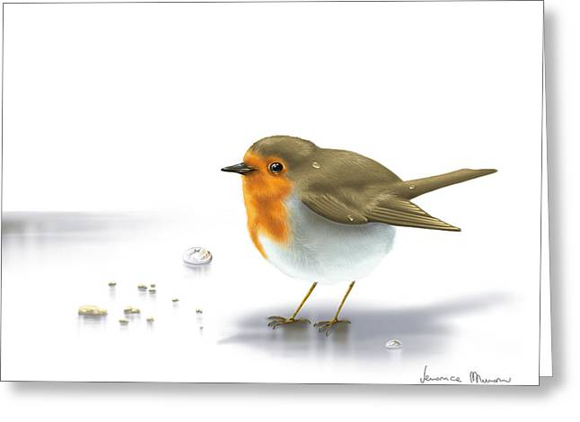 Little Bird Greeting Card by Veronica Minozzi