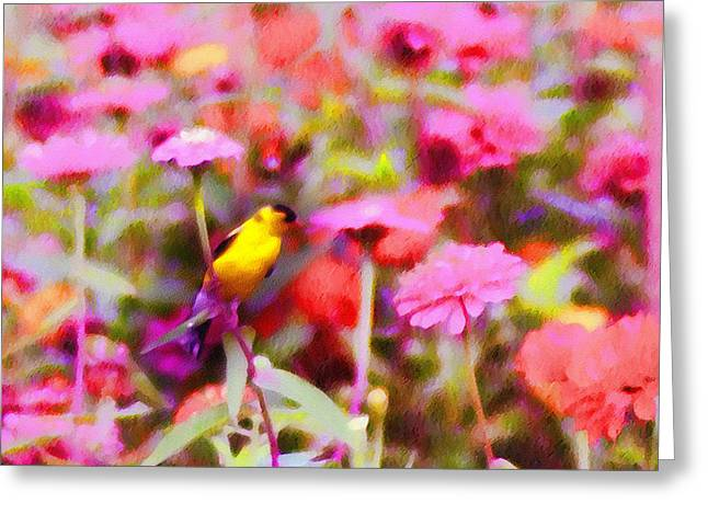 Little Birdie In The Spring Greeting Card by Bill Cannon