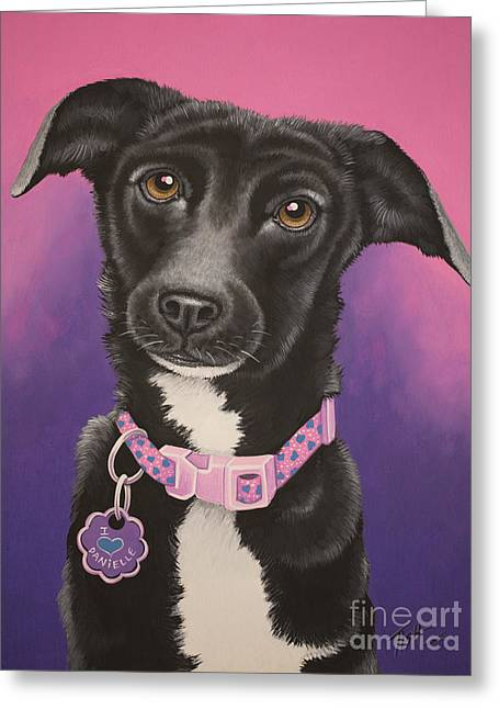 Little Black Dog Greeting Card