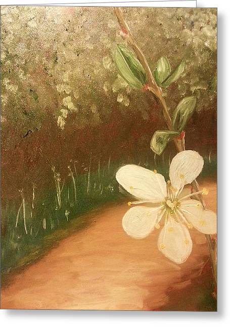 Little Blossom Greeting Card by Isabella F Abbie Shores FRSA