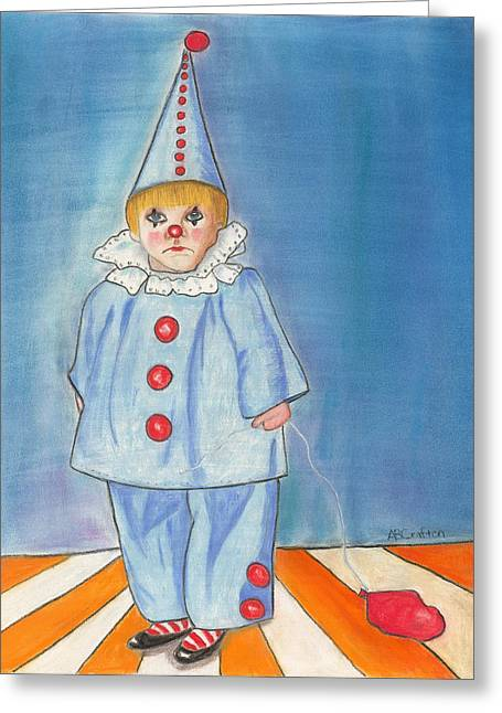 Little Blue Clown Greeting Card