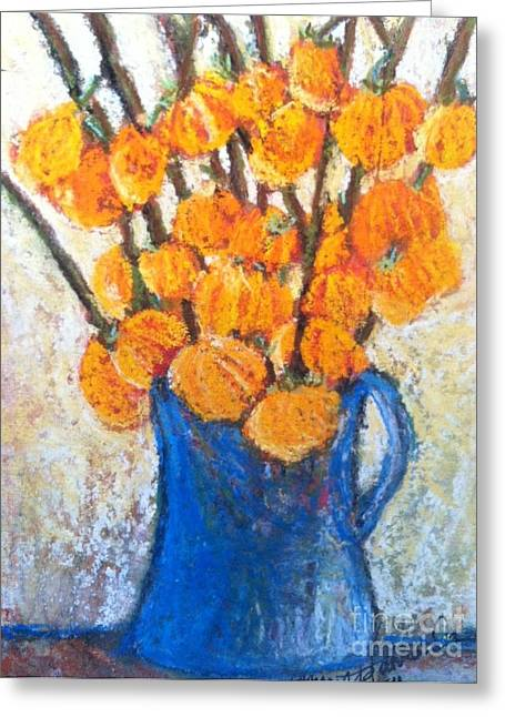 Little Blue Jug Greeting Card by Sherry Harradence