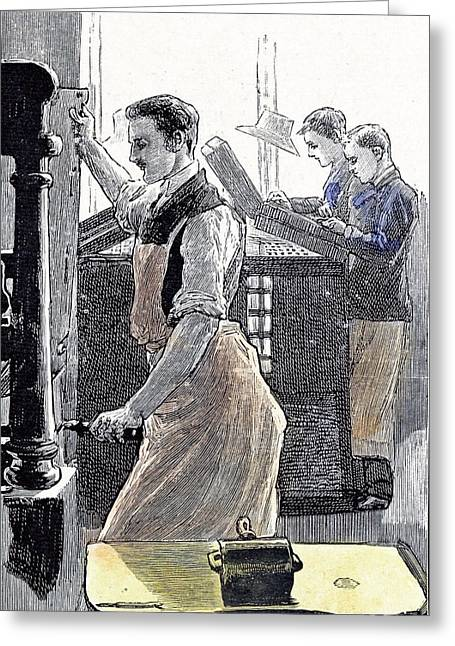 Little Boys Home At Farningham Britain 1891 The Composing Greeting Card by English School