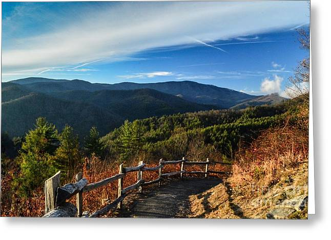 Greeting Card featuring the photograph Little Cataloochee Overlook In Summer by Debbie Green
