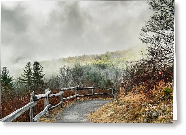 Greeting Card featuring the photograph Little Cataloochee Overlook In The Great Smoky Mountains by Debbie Green